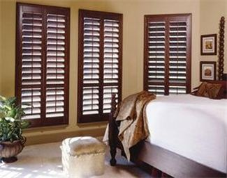 plantation shutter install example in austin area